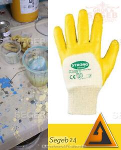 Gr 8-11 Nitril Handschuhe Gelb Werkstatt Industrie Montage Kfz Arbeitshandschuhe