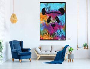 Tie Dye Panda Indian Mandala Wall Hanging Poster Tapestry Cotton Bohemian Throw