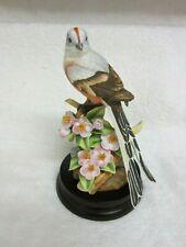 Andrea by Sadek Porcelain Scissor-Tailed Flycatcher w/Flowers Bird Figurine