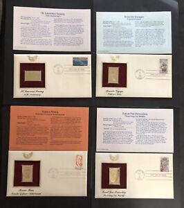 ODZ & ENDZ G/VG* 4 COMMEMORATIVE SCOTT:# 2091 2093 2095 2096 22k Gold  FDC 1858