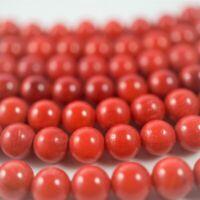 Bambuskoralle rot Perlen Kugeln ca. 8 mm Schmuckstein Naturstein Strang ca. 40cm
