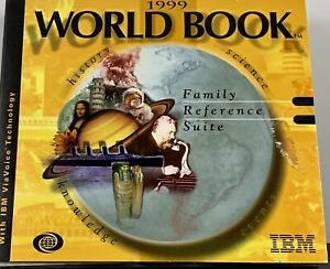(1999, WORLD BOOK, Family Reference Suite, IBM, Encyclopedia, PC, CD-ROM)