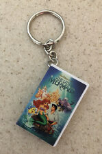 Disney The Little Mermaid Vhs Movie Keychain