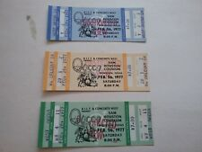 Queen 1977 Day At The Races Tour Houston Full Ticket Nmnt 3 Diff Pick 1 Rare Vtg