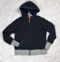 Rare Nike N7 Womens Full Zip Hoodie Size L Large Black Gray Teal Sweatshirt GUC