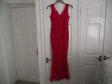 Señoras Vestido Cóctel-tamaño pequeño (8) - Rojo-usado una vez