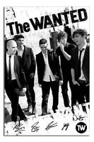 The Wanted Black & White Large Maxi Wall Poster New - Laminated Available