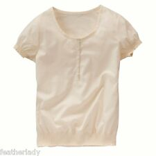 La redoute BALTIMORE LEAGUE ivory ecru SMOCKED top blouse 11 12 yrs EU 150 NEW