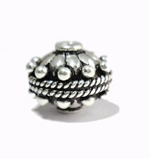 SOLID COPPER BALI BEAD OXIDIZED STERLING SILVER PLATED 18K GOLD PLATED  17