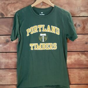 Portland Timbers Men's Medium Graphic T Shirt MLS Green M Short Sleeve