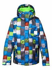 QUIKSILVER MISSION PRINTED 10K YOUTH SNOWBOARD JACKET SIZE SMALL (10) *NWT*