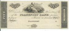 Kentucky Frankfort  Bank Note $5 18XX H269 CU Note maid with sheep