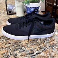 Nike SB Check Solar Canvas Skate Shoes Solarsoft Black/Black/Red Mens Size 9.5