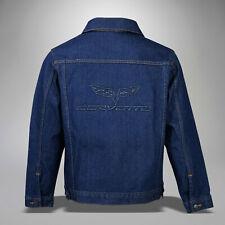 2005-2013 C6 Corvette Blue Denim Jacket Permanent Embossed Logo 604832
