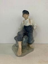 Royal Copenhagen Denmark Porcelain Shepherd Boy on Rock Figurine 1659 Thomsen