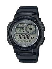 Casio AE1000W-7AV, Chronograph Watch, 5 Alarms, 10 Year Battery, World Time