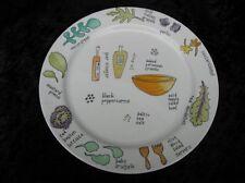"Ursula Dodge Salad Days Veggies 2 Small Dinner or Large Salad Plates 9.25"" Diam"