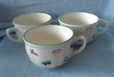 (6) Unique Coffee Cups/Unusual Tea Cups Fruits Design R G Italy White Porcelain