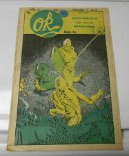 1973 O.K. COMIC CO. v.1 #7 Underground Comix Magazine VG+