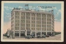 Postcard HOT SPRINGS AR Hotel Como View 1910's