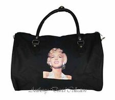 Marilyn Monroe Ladies Black Travel Tote Overnight Bag Duffle Bag Handbag