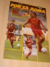 Q26 Poster Mihajlovic - Giannini- Hassler Forza Roma retro Forza lazio