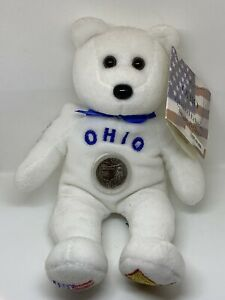 Limited Edition Ohio Coin Bear Rare Phis Ty With Tag Clean 17th State
