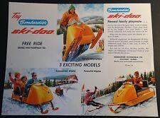 ORIGINAL VINTAGE BOMBARDIER SKI-DOO SNOWMOBILE SALES BROCHURE SINGLE PAGE (107)