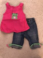 Gymboree Baby Toddler Girl Summer Outfit Pink Tank Top And Jeans 18-24 Months