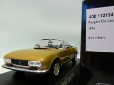 WOW EXTREMELY RARE Peugeot 504 Cabriolet 1974 Gold 1:43 Minichamps-205/404/GTi