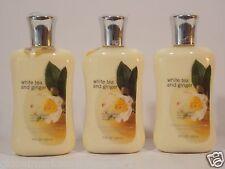 3 Bath & Body Works Signature White TEA & Ginger  Body lotion SHEA VITAMIN E NEW