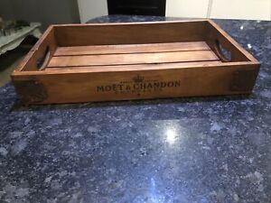 51cm Moët Champagne Vintage Style Wooden Tray.