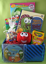 Veggie Tales Silly Songs Personalized CD & Gift Basket, great gift idea for kids