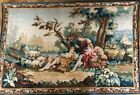 """LARGE Antique Robert Four Aubusson Tapestry- Arazzo - """"Idylle"""" Mid 20th C."""