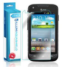 2x iLLumi AquaShield Crystal Clear Screen Protector for Samsung Galaxy Rugby Pro