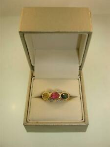 UNIQUE FANCY 14K SOLID GOLD APPROX. 3+CTW GARNET & DIAMOND RING! SZ 6