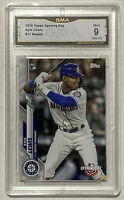 2020 Topps KYLE LEWIS RC Rookie Card #17 Graded GMA 9 - PSA Seattle Mariners