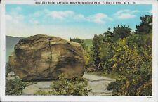 Boulder Rock, Catskill Mountain House Park, Mountains NY Handsome Vintage unused