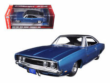 AUTO WORLD 1:24 CUSTOM 1969 DODGE CHARGER 500 WITH MATTE BLACK TOP AW24005