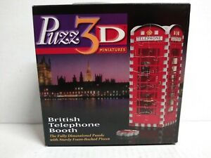 Puzz-3D British Phone Booth Puzzle (not counted)