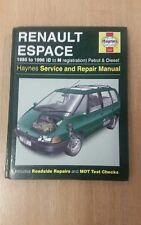RENAULT ESPACE 1985-1996 HAYNES WORKSHOP MANUAL 3197 IN CLEAN USED COND FREE P&P