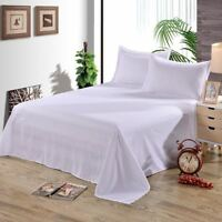 1 Pcs Solid White Flat Sheet Polyester Bedding Sheets Sanding Flat Bed Sheets Fo