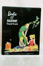 Vintage Barbie Ken Skipper Picnic Black Trunk Case Htf