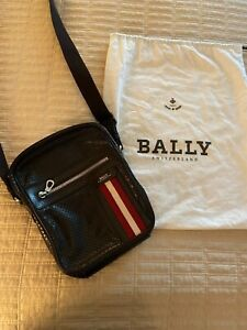 BALLY Perforated Leather Messenger Bag - AUTHENTIC