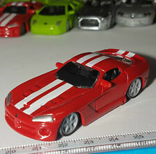 BBURAGO MINIATURES DODGE VIPER SRT10 SPORT CAR DIECAST METAL ECHELLE 1:64 NO BOX