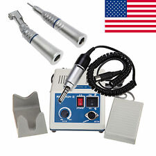 New Dental Lab Marathon Micromotor N3 35K RPM + Straight Contra Angle Handpiece