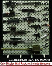 1:6 Scale Display Stand Wall Storage Shelf F 12'' Weapon Model Rifle Gun Toys