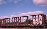 Unidentified Railroad Train Flatbed Frame Car Original 2002 Photo Slide