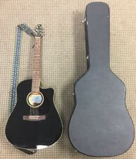 Seagull Entourage CW Black GT QI Dreadnought Acoustic Electric Guitar w/ Case