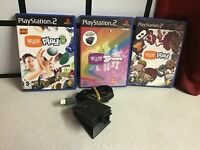 SONY PlayStation 2 Eye Toy Games Bundle PS2 Games good titles comes with camera